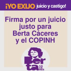 Adhesiones justicia para Berta Cáceres