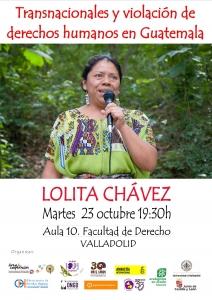 Valladolid: Transnacionales y violación de derechos humanos en Guatemala @ Aula 10. Facultad de Derecho