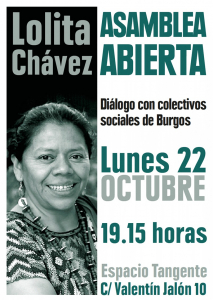 Burgos: Diálogo con Lolita Chávez @ Espacio Tangente
