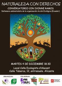"Alicante: ""Naturaleza con Derechos"" Conversatorio con Ivonne Ramos @ Local de la Colla Ecologista d'Alacant"