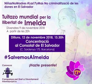 Barcelona: Concentració #SalvemosAImelda @ Consolat de El Salvador