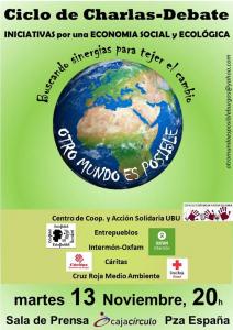 Burgos: Otro Mundo es Posible. Iniciativas por una economía social y sostenible @ Sala de Prensa. Caja Círculo