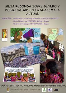 Burgos: Género y desigualdad en Guatemala @ Sala Polisón