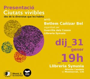 Terrassa: Presentació del llibre Ciutats Vivibles @ Llibreria Synusia. Ateneu Candela
