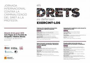 Barcelona: Els drets es defensen exercint-los @ Aula Magna de la Facultat de Geografia i Història