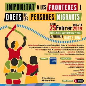 Barcelona: Impunitat a les fronteres i drets de les persones migrants @ Centre Cívic Pati Llimona
