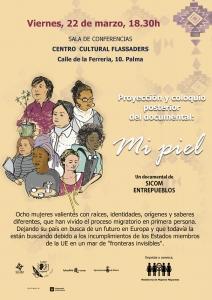 """Palma de Mallorca: Proyección y coloquio """"Mi piel"""" @ Centro Cultural Flassaders"""