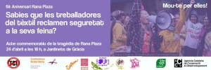 Barcelona: Acte commemoratiu 6è aniversari Rana Plaza @ Jardinets de Gràcia