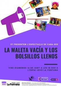 Barcelona: La maleta vacía y los bolsillos llenos - Teatre Caba-RED @ Espai Jove la Fontana