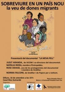 """Barcelona: Documental """"La Meva Pell"""" i Col·loqui 'Sobreviure en un país nou: la veu de les dones migrants' @ Casal Mas Guinardó"""