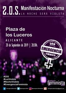 Alicante: Manifestación Emergencia Feminista @ Plaza de los Luceros