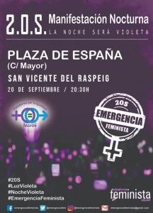 San Vicente del Raspeig: Manifestación Emergencia Feminista @ Plaza de España