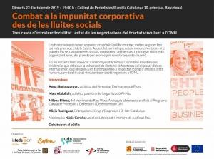 Barcelona: Combat a la impunitat corporativa des de les lluites socials @ Col·legi de Periodistes de Catalunya