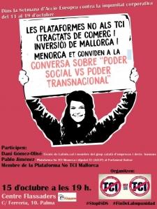 """Palma de Mallorca: Conversa sobre """"Poder social vs. Poder transnacional"""" @ Centre Flassaders"""