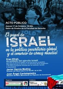 Valladolid: El Papel de Israel en la política securitaria global...... @ Salón de Grados