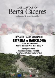 """Barcelona: Estrena del documental """"Les llavors de Berta Cáceres"""" @ La Bonne"""