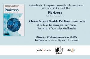 Barcelona: Presentació «Pluriverso. Un diccionario del posdesarrollo» @ Lafede.cat-Organitzacions per a la Justícia Global