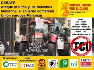 Madrid: Clima y derechos humanos. Acuerdo Unión europea-MERCOSUR. Cumbre Social Clima @ Universidad Complutense