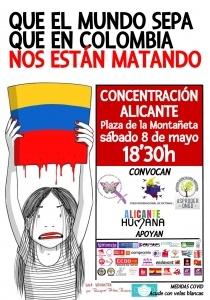 Concentració: Que el mundo sepa que en Colombia nos están matando