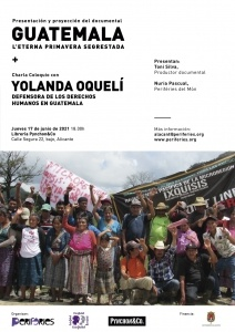 """Presentación y Proyección del Documental """"Guatemala, l'eterna primavera segrestada"""" @ Librería Pynchon&Co"""