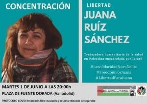 Valladolid: CONCENTRACIÓN por la libertad de Juana Ruiz Sánchez @ Plaza de Fuente Dorada