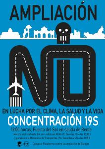 Concentraciones: No a la ampliación del auropuerto