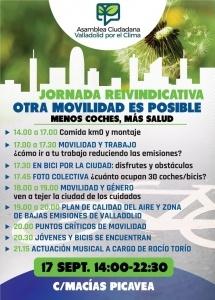"""Valladolid. Jornada reivindicativa """"Otra movilidad es posible"""" @ C/ Macías Picavea"""