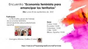 """Conversatorio sobre """"Economía Feminista para emancipar los territorios"""""""