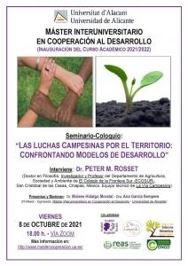 Seminario-coloquio: Las luchas campesinas por el territorio: confrontando modelos de desarrollo